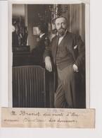 M BRANDT NOMMÉ DIRECTEUR DES DOUANES 18*13CM Maurice-Louis BRANGER PARÍS (1874-1950) - Personalidades Famosas