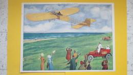 Affiche Pédagogique Scolaire Collection ROSSIGNOL MONTMORILLON Blériot Et Jean Jaurès - Posters