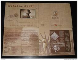 India 2011 Mahatma Gandhi INDIPEX-2011 Khadi (Handmade Cloth) M/s Presentation Pack MNH RARE Inde Indien Gandi Ghandi - Mahatma Gandhi