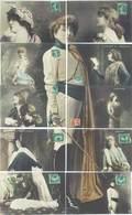 Puzzle De 10 CPA - Sarah Bernhard - Illustrations Diverses Pièces De Théatre     (828 ASO) - Théâtre