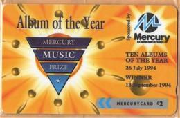Mercury - GPT Cards, MER547A, Mercury Music Prize (3a) - We Charge By…, 48MERTWOA, 2£, Mint NSB - Verenigd-Koninkrijk
