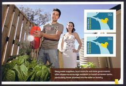Australia - MNH - Sheetlet - Water Conservation - Use Rain Water Tanks - Klima & Meteorologie