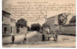 - CPA MANDUEL (30) - Avenue De La Gare 1926 (belle Animation) - Cliché A. Farge - Ed. Gibert Et Fournier - Altri Comuni