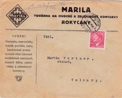 Böhmen Und Mähren - Brief Aus Rokitzau 1942 - Covers & Documents