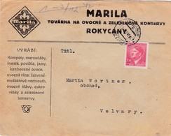 Böhmen Und Mähren - Brief Aus Rokitzau 1942 - Bohemia & Moravia