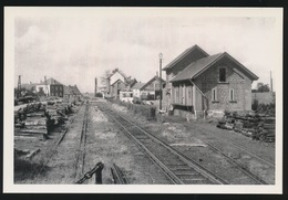 FORGES  STATION VICINAL  - LIGNE CHIMAY - COUVIN  - LIMITED EDITION 200 EX  1957  - 2 SCANS - Tram