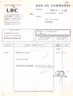 21-1712   1967 CONSTRUCTIONS LRC A PUTEAUX - ETS TISCCO A BOBIGNY - France