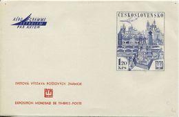 JF0599 Czechoslovakia 1968 Prague Architecture  Aerogramme - Postal Stationery