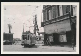 HASSELT ( GARE SNCB) TRAM VAN LIJN HASSELT - GENK   - LIMITED EDITION 200 EX  1957  - 2 SCANS - Tram