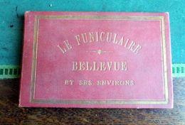 MEUDON LE FUNICULAIRE BELLEVUE 10 Vues En Accordéon De L. TOUZIN Textes Carte Sèvres Saint-Cloud Val Fleury Clamart Gare - Popular Art