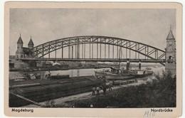 AK SW Magdeburg Nordbrücke, Schiffe Lastkäne, 2 Scans, 14 X 9 Cm, Wohl 1910, Ansichtskarte Ungelaufen - Magdeburg