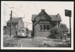 VERLAINE  STATION VICINALE  LIGNE JEMEPPE VERLAINE      - LIMITED EDITION 200 EX  1959  - 2 SCANS - Tramways