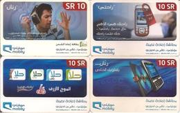 Saudi Arabia, Mobily Prepaid Phone Card, (SR10 X4) - Arabia Saudita