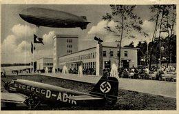 CPA RARE ZEPPELIN HAFFEN GASTSTATTEN FRANKFURT PORT AERIEN - Guerre 1939-45