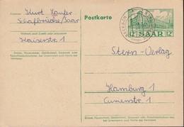 SAAR P 41, Mit Landpoststempel: Brebach über Saarbrücken 20.2.1956 - Entiers Postaux