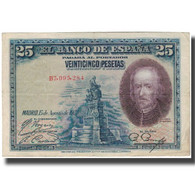 Billet, Espagne, 25 Pesetas, 1928-08-15, KM:74b, TTB - [ 1] …-1931 : Eerste Biljeten (Banco De España)