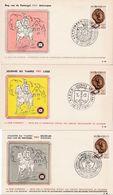 """Belgique 1961: Michel-No.1235 Journée Du Timbre """"Sceau De Jan Bode De 1264"""" 3 FDC O LIÈGE & BRUXELLES & ANVERS 16.4.61 - Tag Der Briefmarke"""