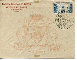 2161. BORDEAUX 1945 1947  LOT DE 2 ENVELOPPES PREMIER JOUR JOURNEE DU TIMBRE - Briefe U. Dokumente