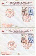 NIORT 1957  LOT DE 2 ENVELOPPES PREMIER JOUR LA CROIX-ROUGE ET LA POSTE - France