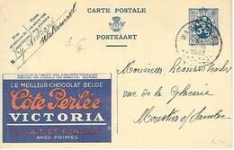 Publibel De 1933 - Chocolat Côte Perlée Victoria - Interi Postali
