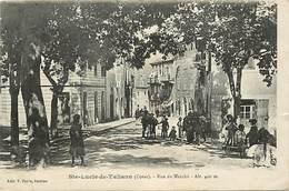 Dpts Div.-ref-AK553- Corse Du Sud- Sainte Lucie De Tallano - Ste Lucie De Tallano -rue Du Marché -edit. Pierre - Sartène - Autres Communes
