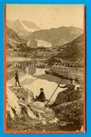 Suisse Valais Martigny * Hospice Et Lac Du Grand Saint Bernard - Photo Charnaux Vers 1875 - Voir Scans - Photographs