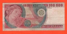 100000 Lire Botticelli 1978 Baffi E Stevani Italia Repubblica - 100000 Lire
