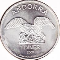 Andorre, 1 Diner 2008 - 1 Oz. Pure Silver - Andorre