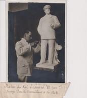 STATUE ROI EDOUARD VII  PAR DENYS PUECH  18*13CM Maurice-Louis BRANGER PARÍS (1874-1950) - Métiers