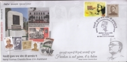 India 2016  INA Commander  Netaji Subhash Chandra Bose Tiger Flag Special Cover With Label  #15683  D  Inde Indien - India