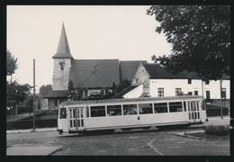 BRABANT  LIJN B  BRUSSEL LEUVEN  MOTORWAGEN N10497  KRAAINEM   1960  2 SCANS - Tram