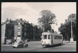 BRABANT  LIJN B  BRUSSEL LEUVEN  MOTORWAGEN N10493 LEUVEN TIENSEBAAN   1960  2 SCANS - Tram
