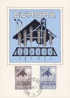 Belgium BRUXELLES 1957 Maximum Carte Card Europa CEPT Complete Set !! - Maximumkarten (MC)