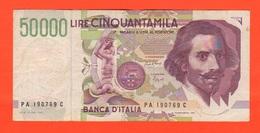 50000 Lire Bernini II° Tipo 1992 Ciampi Speziali Italia Repubblica - [ 2] 1946-… : République