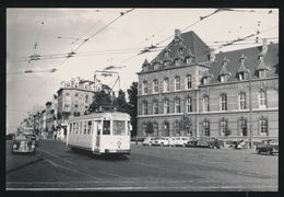 BRABANT  LIJN W  NAAR PLACE SAINT JOSSE   MOTORWAGEN N  - SCHAARBEEK  DAILLYPLEIN  1960  2 SCANS - Tram