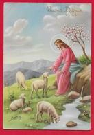 CARTOLINA VG ITALIA - BUONA PASQUA - Cristo Pastore - CECAMI 7287 - 10 X 15 - 1957 ORVIETO - Pasqua