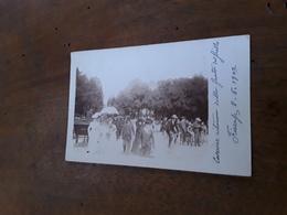 Cartolina Postale Fotografica 1902, Firenze, Cascine, Ritorno Dalla Festa Del Grillo - Firenze (Florence)