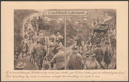 Coaching In Lakeland, 1912 - Valentine's Postcard - Humour