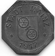 Notgeld Mainz 10 Pfennig 1917 Zn  8711.3 / F 314.2 - [ 2] 1871-1918 : Impero Tedesco