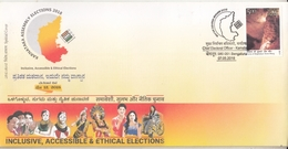 INDIA 2018  Voting Assembly Elections  Inclusive Accessible & Ethical Elections  Special Cover  # 20695   D Inde  Indien - India