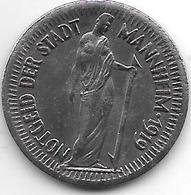Notgeld Mannheim 25 Pfennig 1919 Fe  8773.6 / F 315.3 - [ 2] 1871-1918 : Impero Tedesco