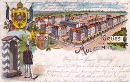 Deutschland - Gruss Aus MULHEIM A.d RUHR - 1901 - Mülheim A. D. Ruhr