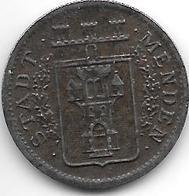 Notgeld  Menden 10 Pfennig 1919 Fe  8960.9 - [ 2] 1871-1918 : Empire Allemand