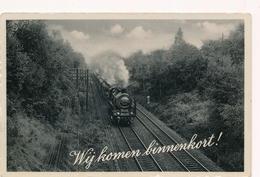 CPA - Pays-Bas - Transports - Chemins De Fer - Train à Vapeur - Treinen