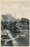 CPA - Pays-Bas - Transports - Chemins De Fer - Gares - Avec Trains - Stations - Met Treinen