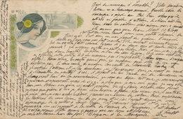 Art Nouveau Couleur  Femme Profil 1901 Envoi à Larodde 63  Type Sage - Illustrators & Photographers