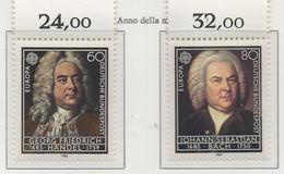 PIA  -  GERMANIA  -  1985  :  Europa - Anno Europeo Della Musica -   (Yv 1080-81) - Europa-CEPT
