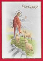CARTOLINA VG ITALIA - BUONA PASQUA - Cristo Pastore - CECAMI 7387 - 10 X 15 - 1966 PATERNO CENTRO - Pasqua