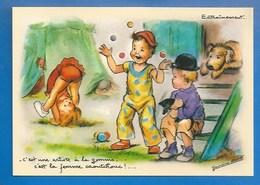 ILLUSTRATEUR : GERMAINE BOURET - CPM -  CIRQUE, FEMME CAOUTCHOUC.. - ED. LES AUTHENTIQUES ET IMAGINAIRES - 10.5 X15 - Bouret, Germaine