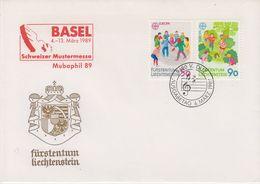 Europa Cept 1989 Liechtenstein 2v (cover Mubaphil Basel) FDC  (43786) - 1989